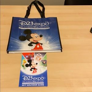 DISNEY D23 EXPO 2017 BAG AND SOUVENIR BOOK MICKEY